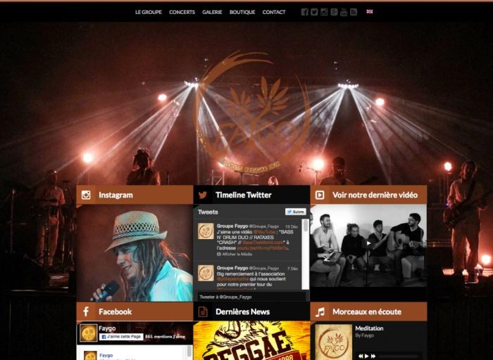 Refonte du site du groupe de reggae Faygo
