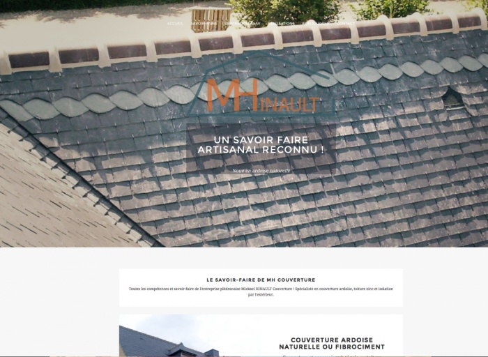 MICKAËL HINAULT COUVERTURE - Couverture, Zinguerie, bardage et isolation