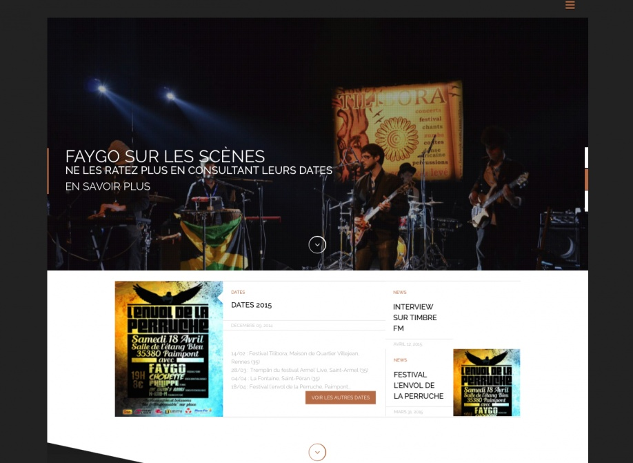 Faygo, site officiel du groupe de reggae
